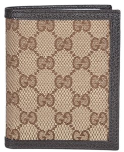 Gucci New Gucci 292533 Men's Beige Canvas GG Guccissima Vertical Wallet