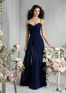 Jim Hjelm Occasions Navy 5838 Formal Bridesmaid/Mob Dress Size 10 (M)