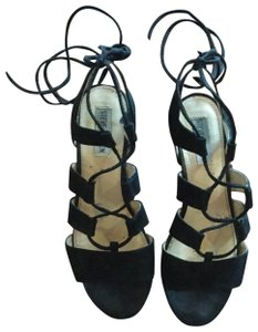 Steve Madden Lace Up Black Sandals