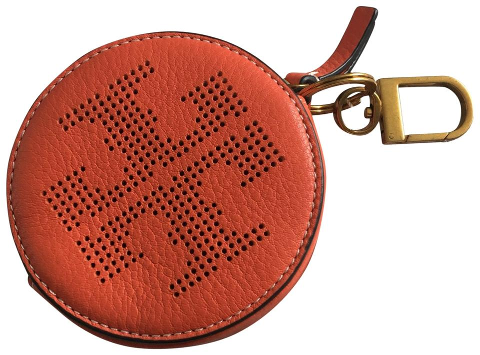 aeed5744165f Tory Burch Tory Burch logo round coin pouch Image 0 ...