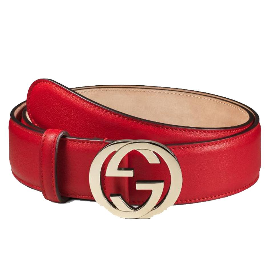 5e7f70626f0 Gucci NEW Gucci Red Interlocking G Women s Belt 370543 Size 40 Image 0 ...