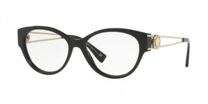 Versace New Versace Women Cat Eye Eyeglasses VE3254A GB1 Black Frame Demo Lens