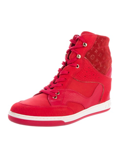 Item - Red Cliff Top Wedge Sneakers Size EU 37.5 (Approx. US 7.5) Regular (M, B)