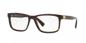 Versace Versace Men Rectangular Eyeglasses VE3253A 108 Brown Frame Demo Lens