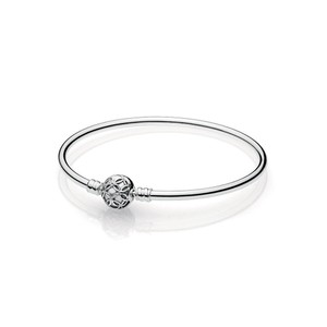 PANDORA Limited Edition Pattern of Love Bangle 7.5 IN