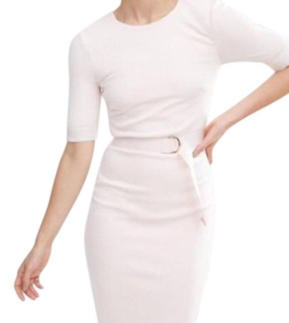 Item - Nude Pink D-ring Pencil Mid-length Work/Office Dress Size 4 (S)