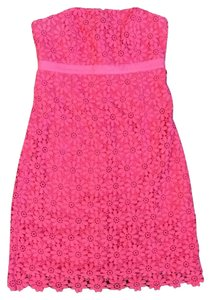 Lilly Pulitzer short dress Pink Floral Lace Bowen on Tradesy