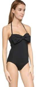 Kate Spade NWT KATE SPADE GEORGICA BOW BANDEAU SWIM SUIT SWIM WEAR BLACK M $150