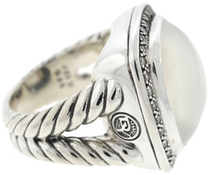 David Yurman David Yurman Moonstone and Diamond Ring