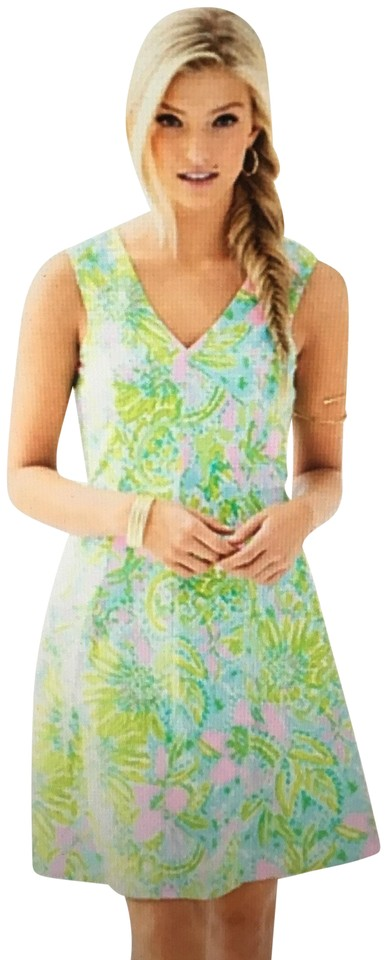 a88551c0af7 Lilly Pulitzer Multi Coconut Jungle Dahlia Fit and Flare Casual Dress