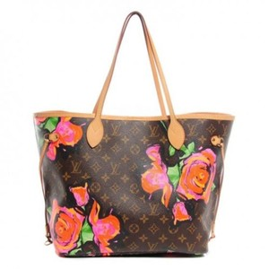 Louis Vuitton Neverfull Monogram Lv Roses Mm Tote in brown multi