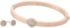 Michael Kors NIB Michael Kors Rose-Gold Bangle and Earring Set MKJ5936791