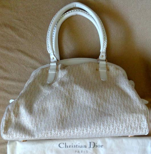 Dior Large Dust Logo Print Leather 'my Design Hobo Bag