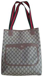 Gucci Vintage Vintagegucci Vintageguccitote Gg Monogram Tote in Brown