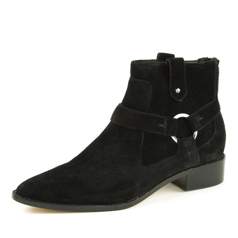 Toe Minkoff Pointed Suede Rebecca Boots Black Jenni Booties TqgxH1