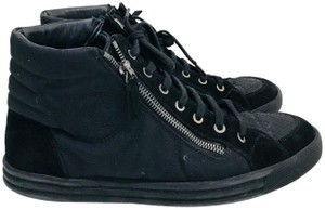 Chanel Sneakers Canvas Suede Black Athletic