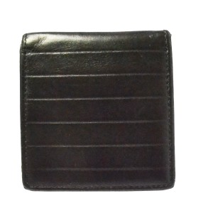 Dior Christian Dior Homme CD Coin Case Wallet Purse Leather Black Italy