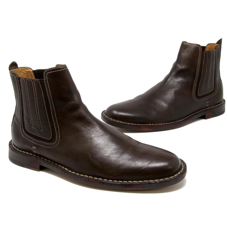 d4f44b29433 Cole Haan Dark Brown Nike Air Men's Chelsea Ankle Leather Pull On Round D  Boots/Booties Size US 8.5 Wide (C, D) 34% off retail
