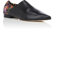 3.1 Phillip Lim Leather Eclectic Italy Festival Black Floral Flats