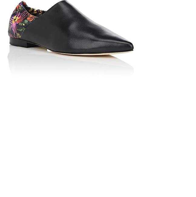 Item - Black Floral Babouche New Leather Loafers Flats Size US 8 Regular (M, B)