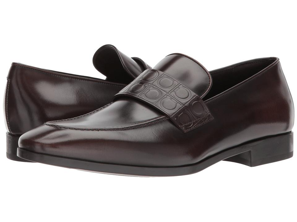78e38c85199 Salvatore Ferragamo Fondente Columbus Mens Leather Loafers Ee Formal Shoes