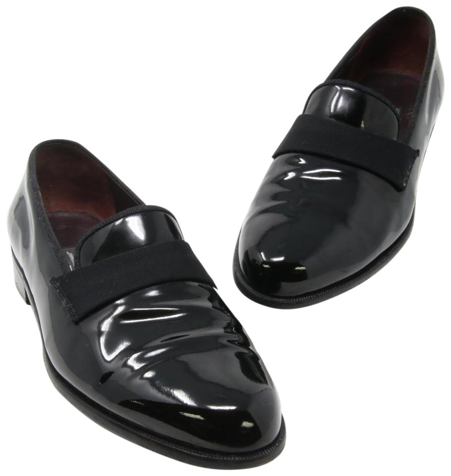 select for official good selling big selection of 2019 Salvatore Ferragamo Black Men's Classic Patent Leather Slip- On Tuxedo  Formal Shoes Size US 8.5 Extra Wide (Ww, Ee) 59% off retail