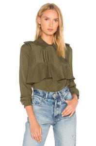 FRAME Button Down Shirt Dark Green