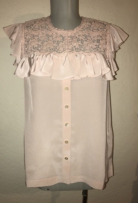 Rebecca Taylor Button Down Shirt Pink Image 3