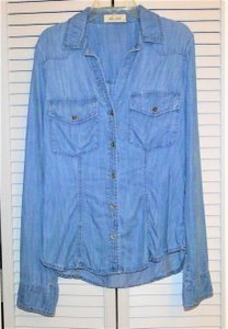 Bella Dahl Shirt Denim Shirt Denim Denim Shirt Denim Button Down Shirt Blue
