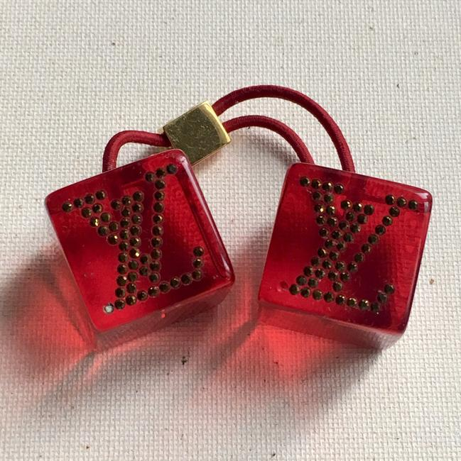 Item - Red Logo Cubes Hair Accessory