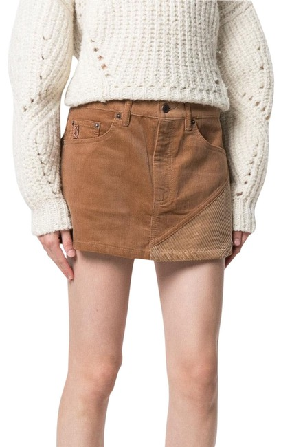 Item - Brown Neutral Stripped Corduroy Skirt Size 2 (XS, 26)