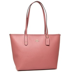 Coach Shoulder Leather Leather Tote in Pink