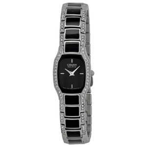 Citizen Normandie Black Small Dial Stainless Steel Crystal Ladies Watch