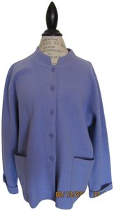 Herman Geist Wool Dryclean Only Heather blue Jacket