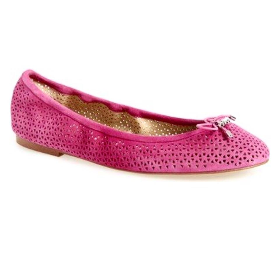 32e314b9b Sam Edelman Pink Felicia Perforated Suede Flats. Size  US 6.5 Regular ...