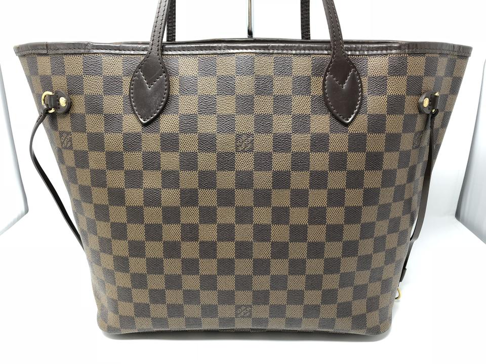 f0d21798f68d4 Louis Vuitton Neverfull Mm Damier Ebene Canvas Brown Tote - Tradesy