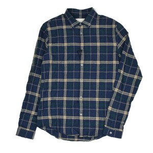Gucci Blue / Green / Beige Navy Duke Fancy Check Cotton #418656 17.5 44 Shirt