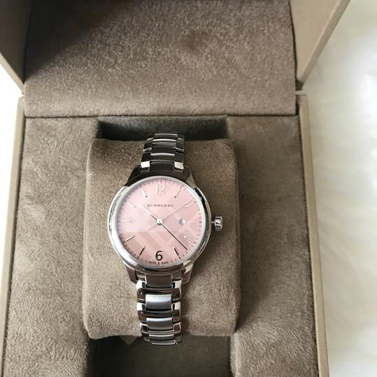 Burberry $800 NWT Stainless Steel with Pink Dial women's Watch BU10111 Image 1