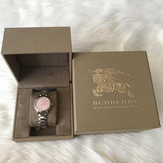Burberry $800 NWT Stainless Steel with Pink Dial women's Watch BU10111 Image 10