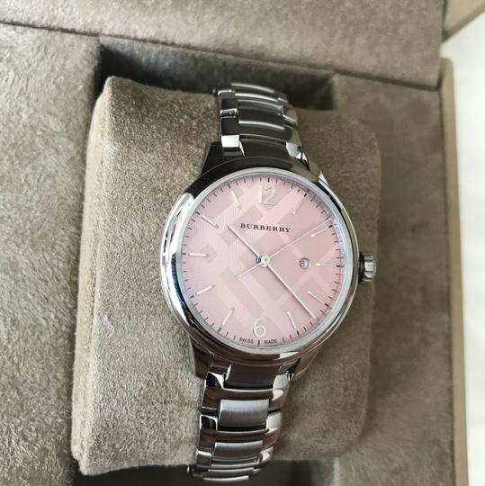 Burberry $800 NWT Stainless Steel with Pink Dial women's Watch BU10111 Image 3