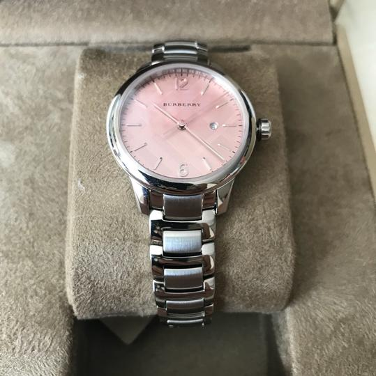 Burberry $800 NWT Stainless Steel with Pink Dial women's Watch BU10111 Image 4