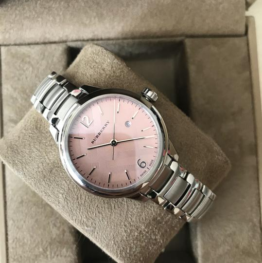 Burberry $800 NWT Stainless Steel with Pink Dial women's Watch BU10111 Image 5