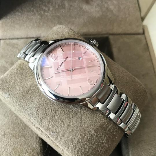 Burberry $800 NWT Stainless Steel with Pink Dial women's Watch BU10111 Image 6