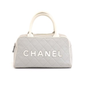 Chanel Gray Travel Bag