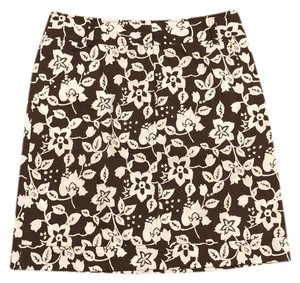 Lafayette 148 New York Skirt Brown and White