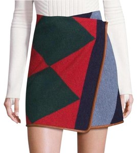 Tory Burch Wool Wrap Mini Skirt Multi
