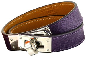 Hermès Hermes Kelly Double Tour Leather Bracelet