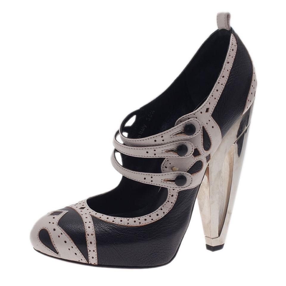 937ed2ec593a Dior White Black And Leather Mary Jane Pumps Size EU 36.5 (Approx ...