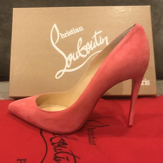 Christian Louboutin Stiletto Pigalle Follies Suede Begonia (Pink) Pumps Image 1