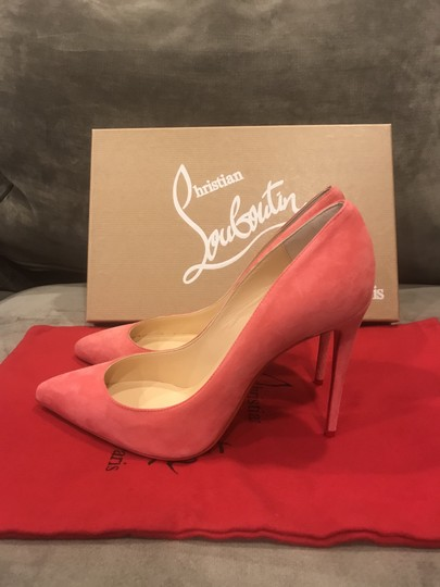 Christian Louboutin Stiletto Pigalle Follies Suede Begonia (Pink) Pumps Image 10